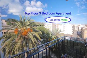 Javea Top floor apartment for sale in