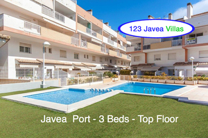 Javea Port Top floor 3 bedroom apartment for sale